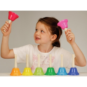 giocalamusica campanelle montessoriane rainbow bells